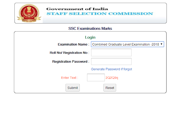 SSC CGL 2018 Tier -1 Marks Released, Check Here